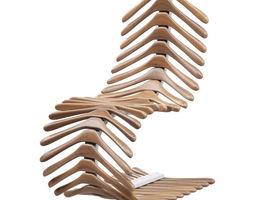 3D Chair skeleton of hangers