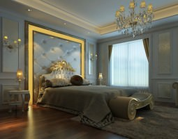 animated bedroom photoreal 3d model