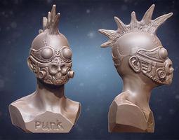 punk bust 3d print