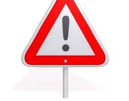 warning sign  3d model
