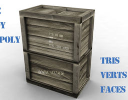 3D asset ammunition vertical box
