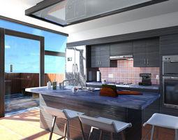 mr kitchen 01 3d model