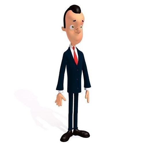 3d Model Businessman Cartoon Cgtrader