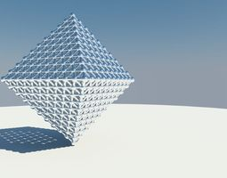 3d model triangle grid