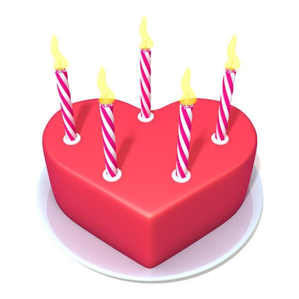 Valentine Cake 3d Model Max Obj Ma Mb 1 ...