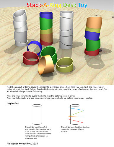 Stack A Ring Toy Free 3D Print Model