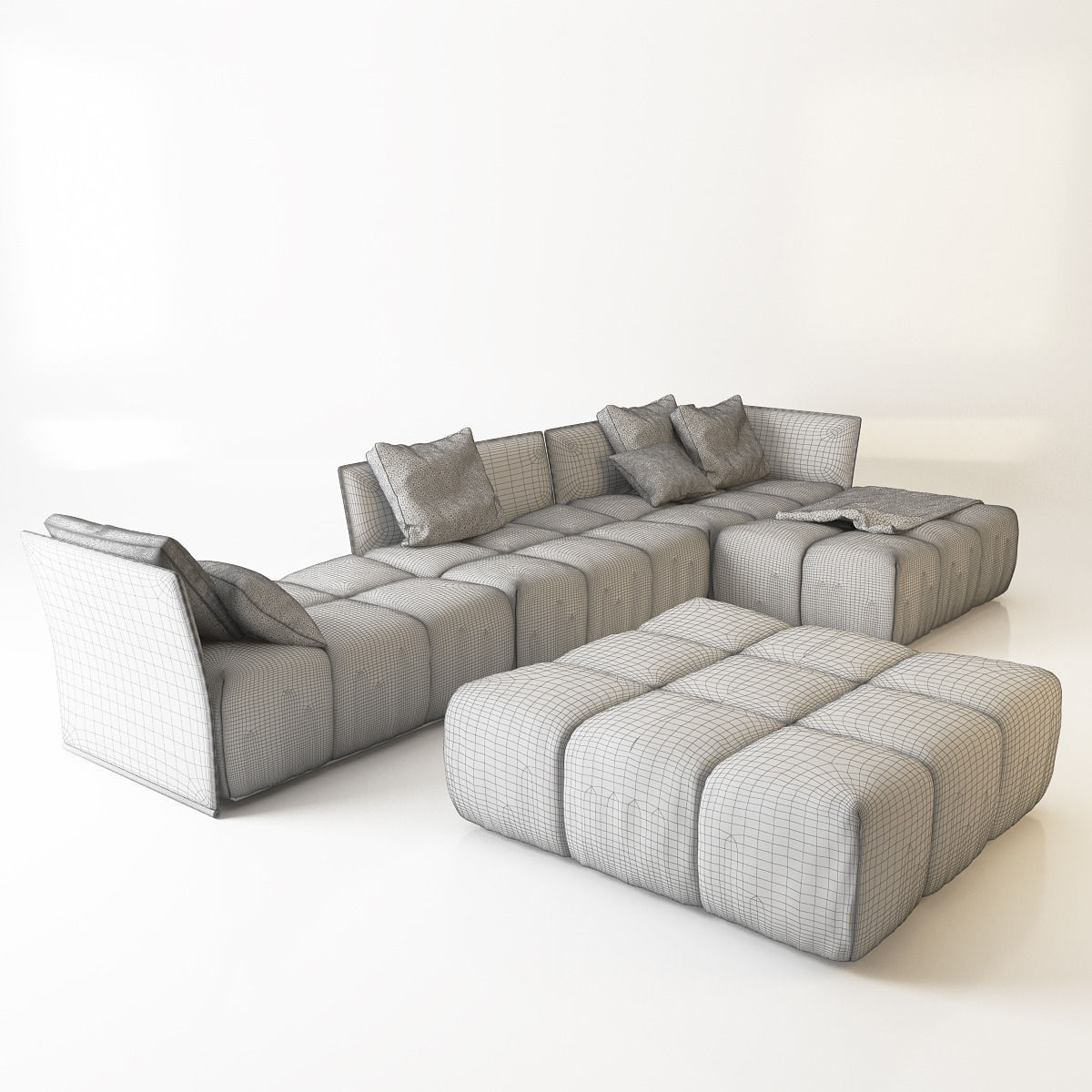 Sofa saba pixel 3d model max obj fbx mtl for Sofa 3d model