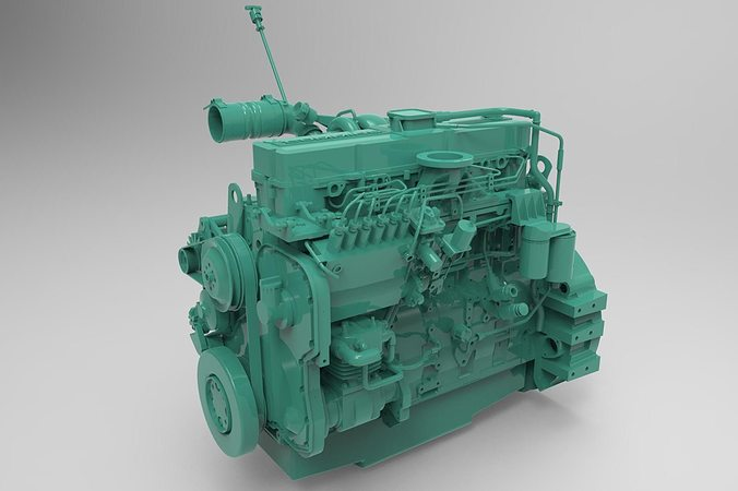 Truck Trader Online >> Engine Cummins 6 LTA 3D Model MAX FBX   CGTrader.com