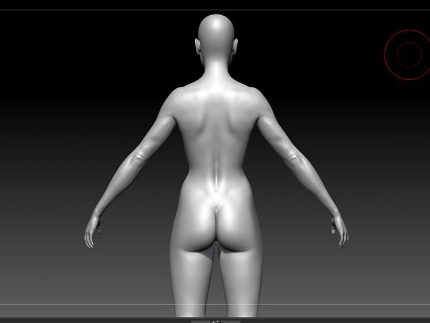 nude female base mesh 3d model stl ztl 1
