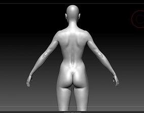 Nude Female base mesh 3D model