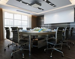 3D model Photorealistic Conference Room 01