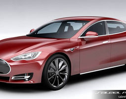 Tesla Model S 2016 3D Model