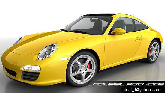 porsche 911 targa 2012 3d model max obj mtl tga 1