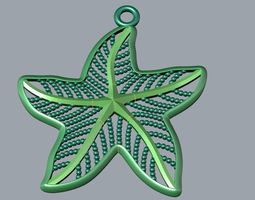 star pendant 3d printable model