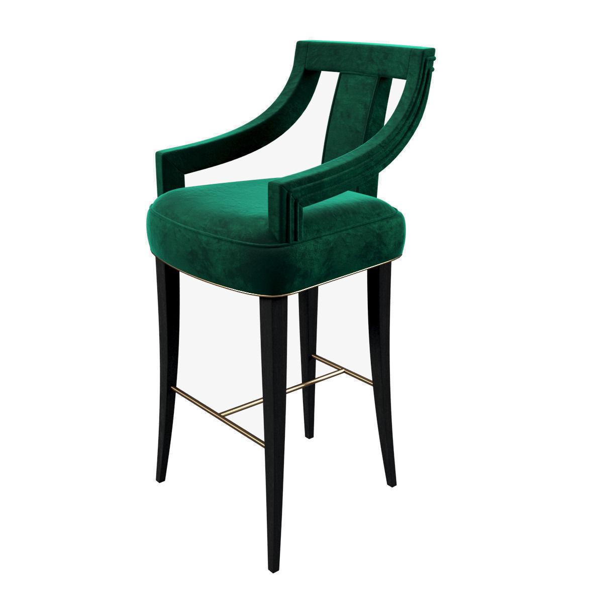 Brabbu Eanda Bar Chair 3d Model Cgtrader