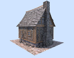 3D medieval town house
