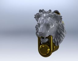 LIONS HEAD DOOR KNOCKER 3D printable model