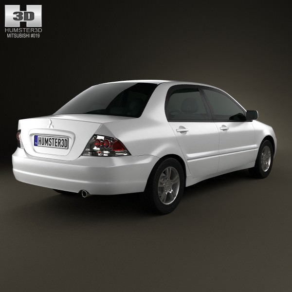 ... Mitsubishi Lancer Ralliart Sedan 2004 3d Model Max Obj Mtl 3ds Fbx C4d  Lwo Lw Lws ...