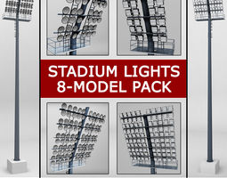 Stadium light lux pack 3D model