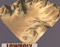 hill Lowpoly Mountain 3D model game-ready