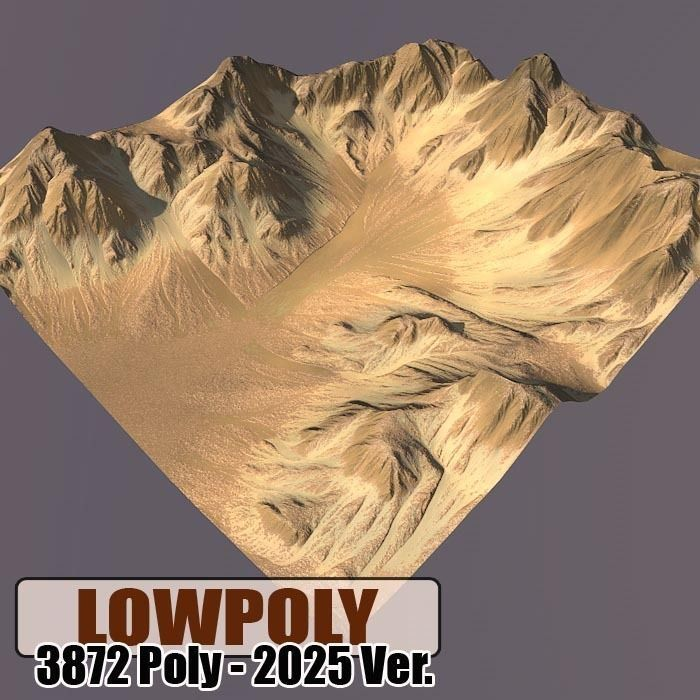 Lowpoly Mountain | 3D model