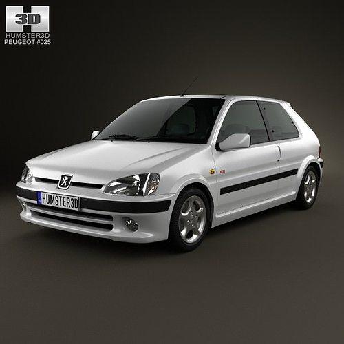 Peugeot 106 GTI 3-door 1997 3D model | CGTrader