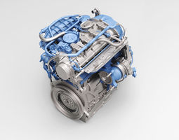 volkswagen new magotan engine 3d model