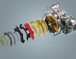 3d model volkswagen new magotan gearbox