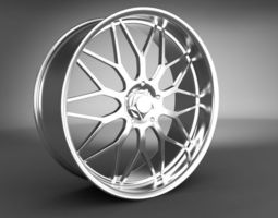 alloy 3D model Wheel Rim