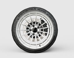 enkei rs05rr automotive -rim only- 3d model