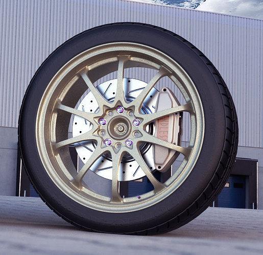 rays ce28n automotive -rim only- 3d model obj mtl fbx 1