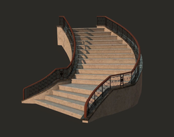 fantasy staircase VR / AR ready 3d asset