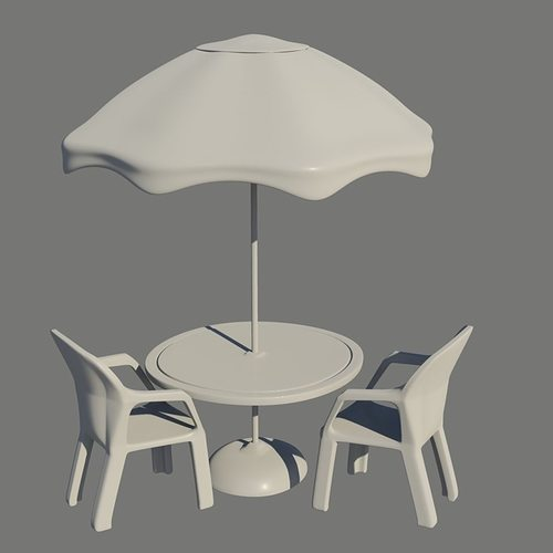 Umbrella Table and Chairs free 3D Model OBJ FBX MA MB DAE  : umbrella table and chairs 3d model obj fbx ma mb dae from www.cgtrader.com size 500 x 500 jpeg 13kB