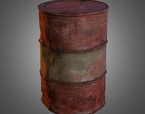 3D asset Old Oil Barrel