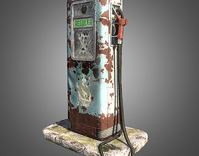 3D asset Retro Gas Pump