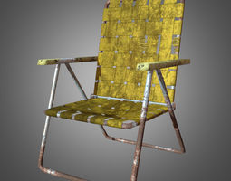 Old Lawn Chair 3D model