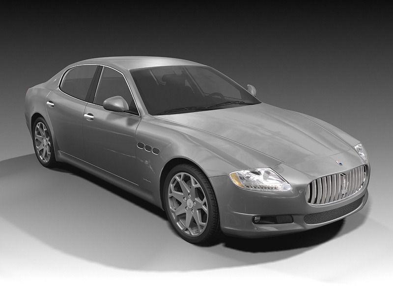 Maserati quattroporte 2009 3d model max obj 3ds fbx c4d for Porte 3ds max