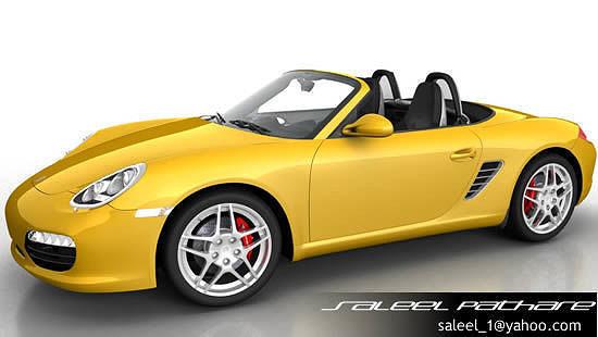 3d Porsche Boxster S 2012 Cgtrader
