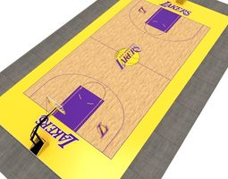 Basketball Court 3D model realtime