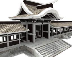 3D asset Modular Asian Wall