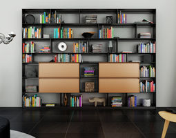 3D B and B Bookcase