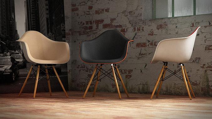 Vitra Eames Plastic Armchair 3D Model