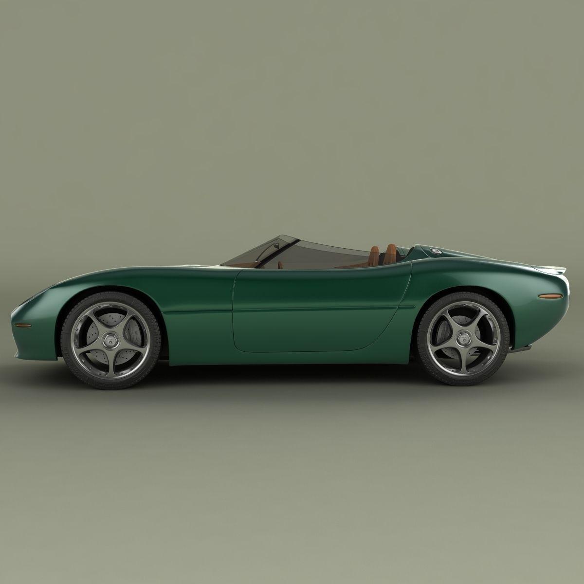 Jaguar Concept: Jaguar XK 180 Concept 3D Model MAX OBJ 3DS FBX C4D