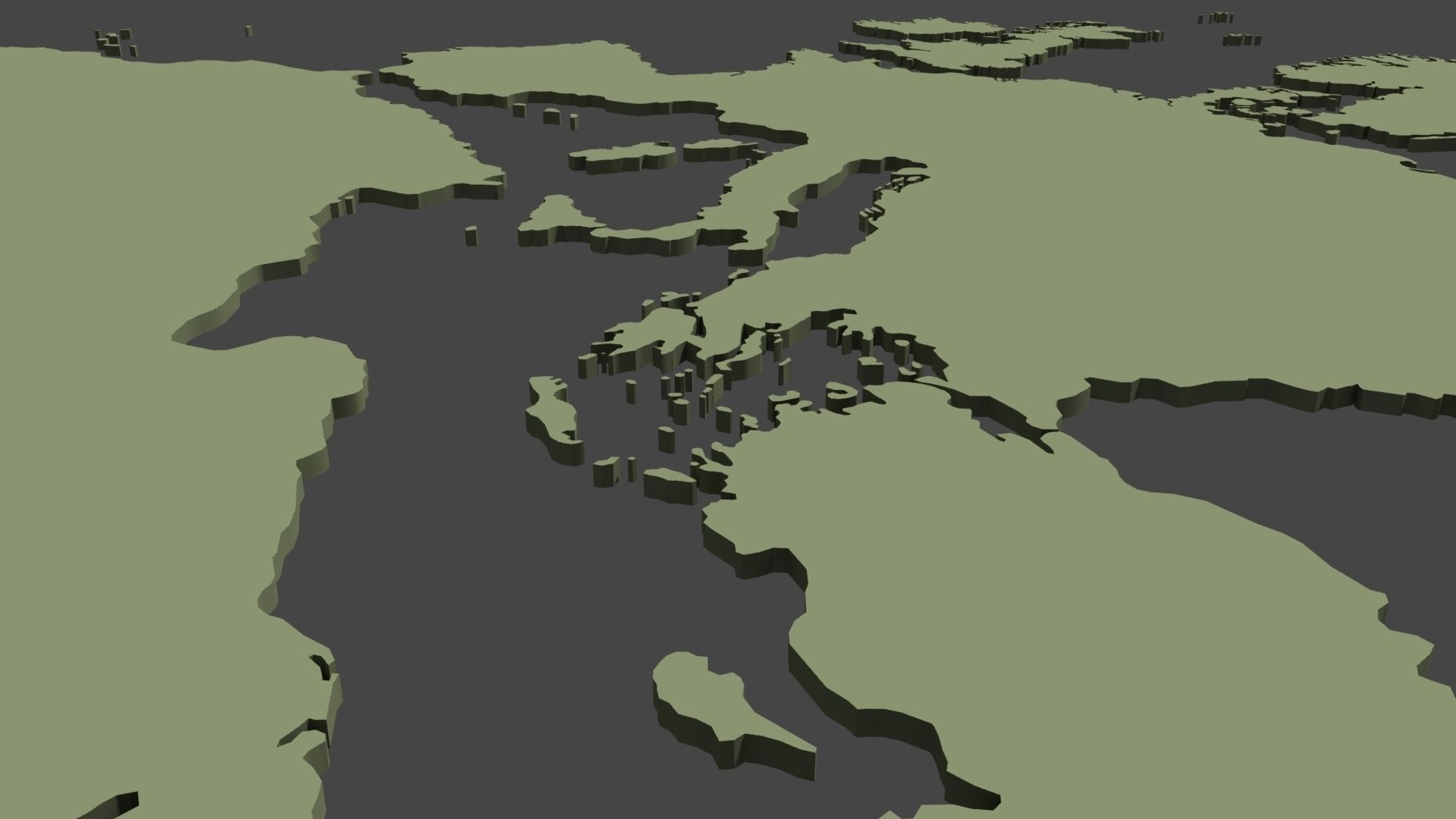 Vr ar ready 3d world map planisphere cgtrader 3d world map planisphere 3d model low poly obj 3ds fbx c4d ma mb mtl gumiabroncs Gallery