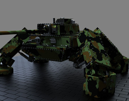 Steampunk Tank 3D Model