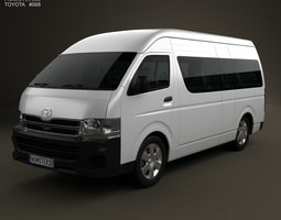 toyota hiace super long wheel base 2012 3d model max obj 3ds fbx c4d lwo lw lws