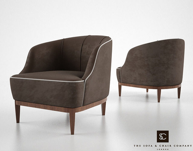 The Sofa And Chair Company Lloyd Armchair Model Max Obj Mtl Fbx 1