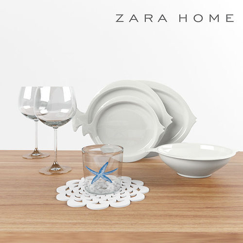 tableware of zara home 3d model max fbx 1 & 3D model Tableware of Zara Home | CGTrader