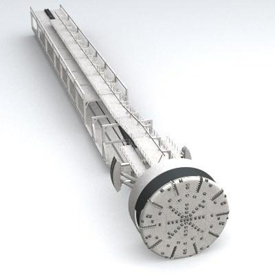tunnel boring machine tbm 3d model 3ds lwo lw lws 3
