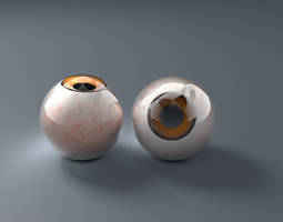 Extremely detailed human eye 3D model